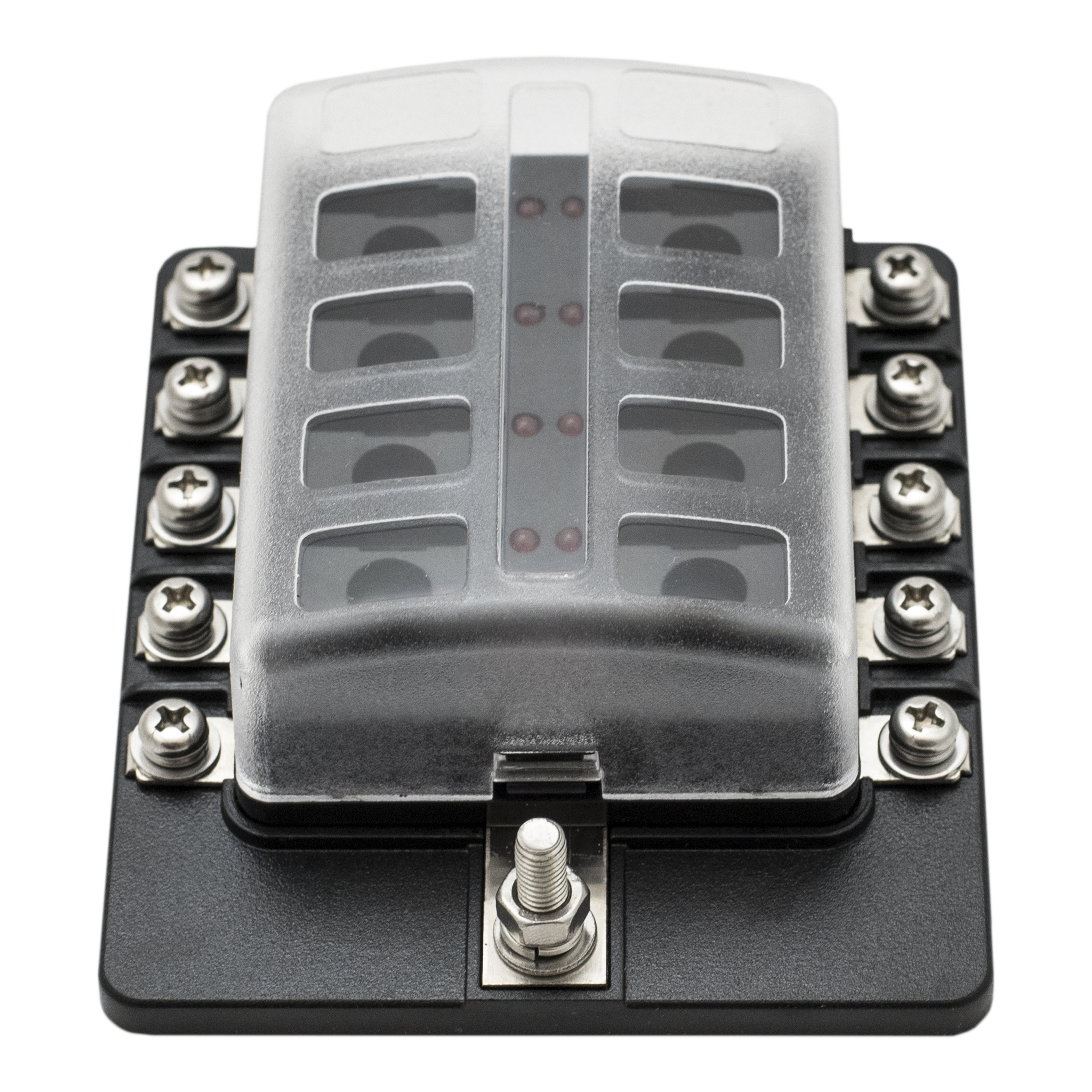 Multi way blade fuse box led indicator for blown