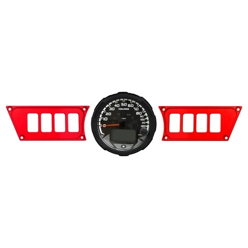 Polaris RZR 1000 Red Dash Panel (1)