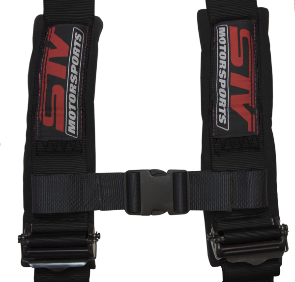Racing Harness 4 Point Sewn In Pads – Black (3)