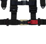 Racing Harness 4 Point Sewn In Pads – Black (4)
