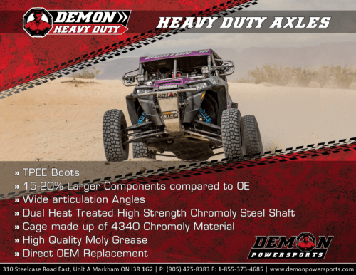 HD RZR Race Axle - Demon Powersports